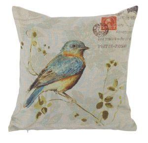 Coussins Oiseaux en toile de coton Athezza