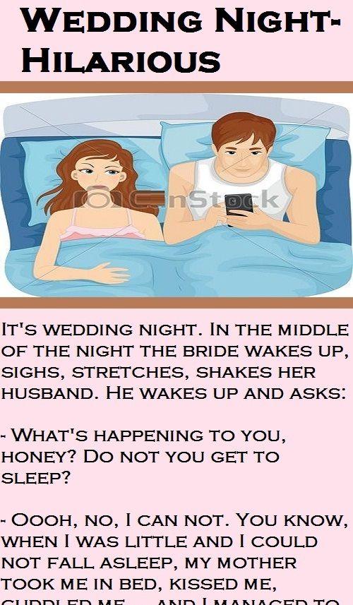 Wedding Night Hilarious Funny Humor Latestjokes Wedding Jokes Hilarious Husband Jokes Marriage Jokes