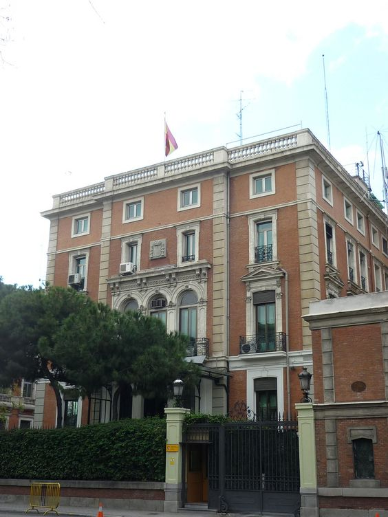 Palacio de alcal galiano conde de casa valencia for Ministerio de relaciones interiores espana