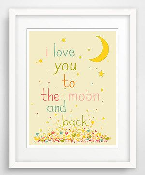 Look at this #zulilyfind! Pink 'To The Moon' Giclée Print by Finny and Zook #zulilyfinds