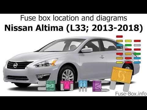 Fuse Box Location And Diagrams Nissan Altima L33 2013 2018 Youtube Fuse Box Altima Nissan Altima