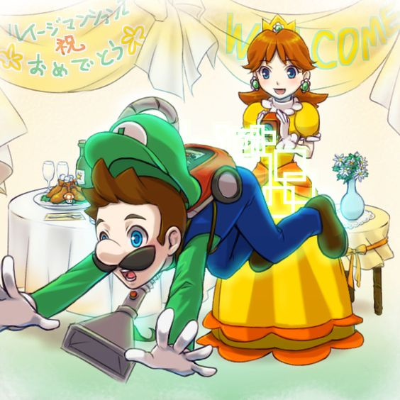 Princess daisy and luigi love