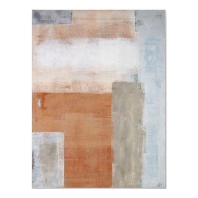Brown, Grey and White Abstract Art Poster