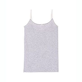 Petit Bateau US Official Online Store, Girl's tank top in second skin Lycra jersey, poussiere argent, Girl : Undies, 36611