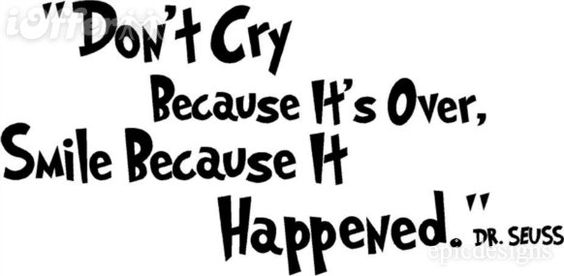 Don't cry...