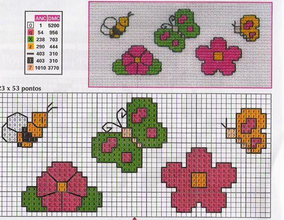Giori farfalle ape punto croce punto croce baby for Farfalle punto croce schemi