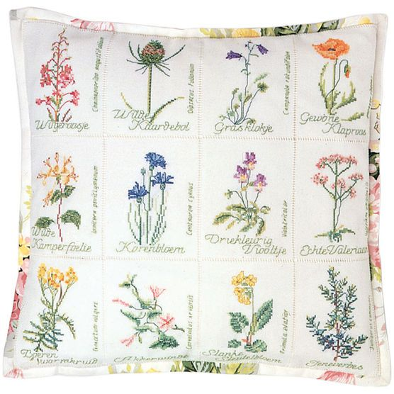 Wild Flowers Counted Cross Stitch Kits And Stitches On