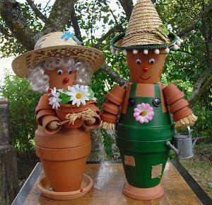 couple du jardin couple pots en terre pinterest couple. Black Bedroom Furniture Sets. Home Design Ideas