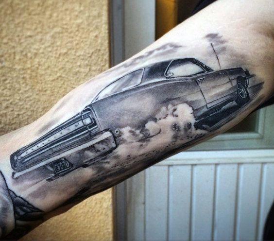 70 Car Tattoos For Men Cool Automotive Design Ideas