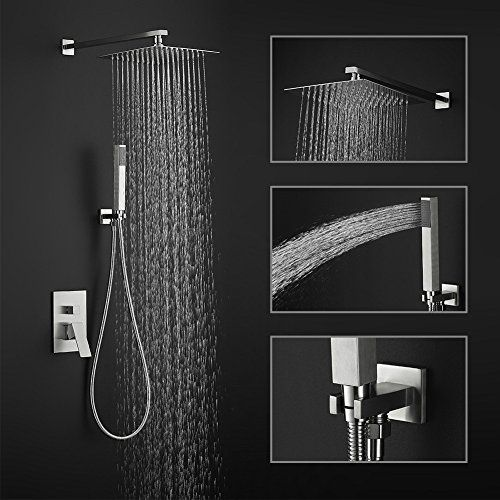 Bathroom Shower Systems 2 Function Square Mixer Rainfall Shower Systems Shower Holder Shower Heads