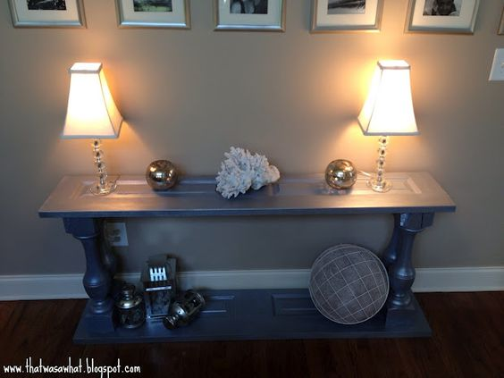 That Was A What?!: Guess What This Glitzy Console Table Used to Be!