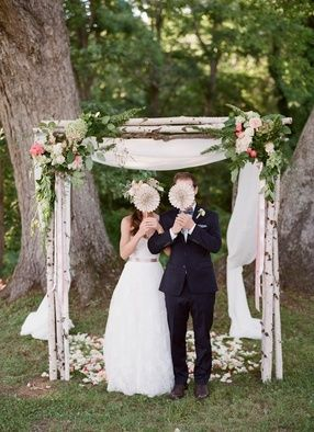 Gorgeous rustic and whimsical wedding arbor. // Jen Fariello Photography