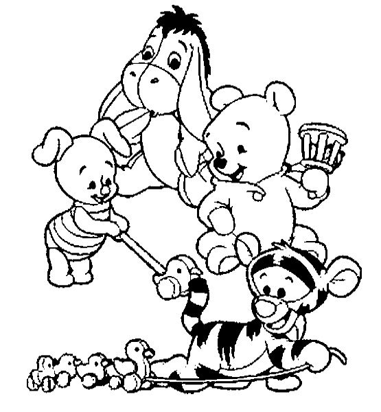 Baby winnie the pooh and friends coloring pages for Winnie the pooh and friends coloring pages