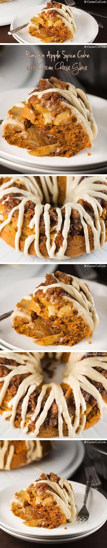 Apple spice cake, Spice cake and Cream cheese glaze on Pinterest