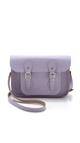 We're longtime fans of the Cambridge Satchel - so great in lavender! Makes us ready for spring.