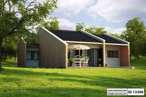 2 Bedroom House Plan Id 12206 Brick House Designs Brick House Plans Brick Ranch House Plans