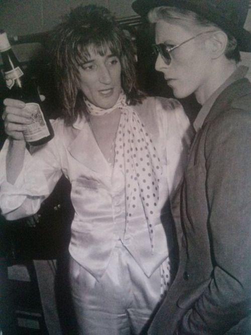 Rod Stewart with David Bowie