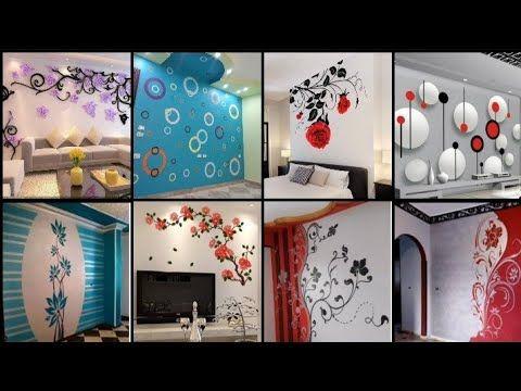 أفضل رسومات استنسل على الجدران2020 اجمل رسومات ستنسل والخلفيات للغرف والصالات وشاشات جبسstencilsجزء2 Asian Paints Wall Designs Wall Paint Designs Wall Design
