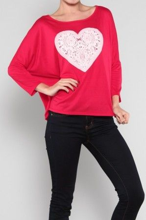 Heart Jersey Top Join for FREE today www.salediem.com And begin to SAVE!!