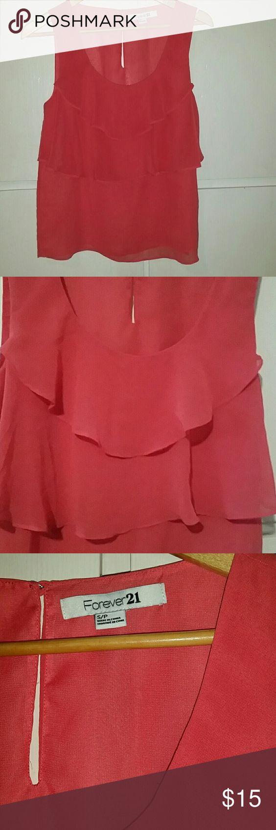Forever 21 sleeveless flowy blouse Forever 21 sleeveless flowy blouse  Size S Shell: 100% polyester Lining: 100% polyester Forever 21 Tops Blouses
