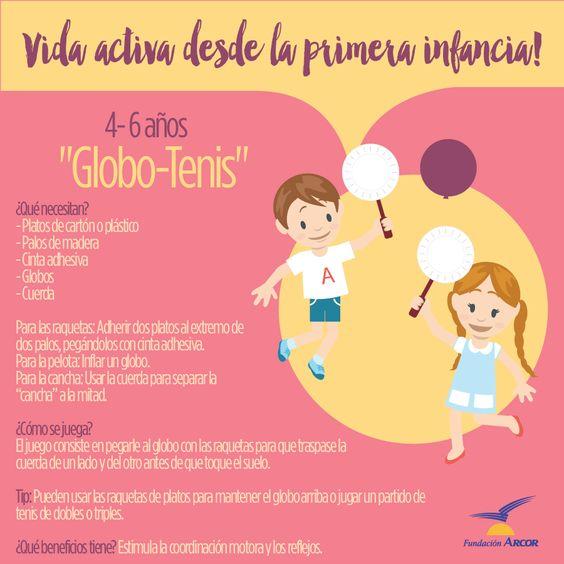 Globo tenis (para niños de 4-6 años).