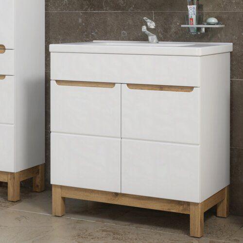 Carlos 800mm Free Standing Vanity Unit Zipcode Design In 2020 Waschtischunterbauten Frisiertisch Waschtisch