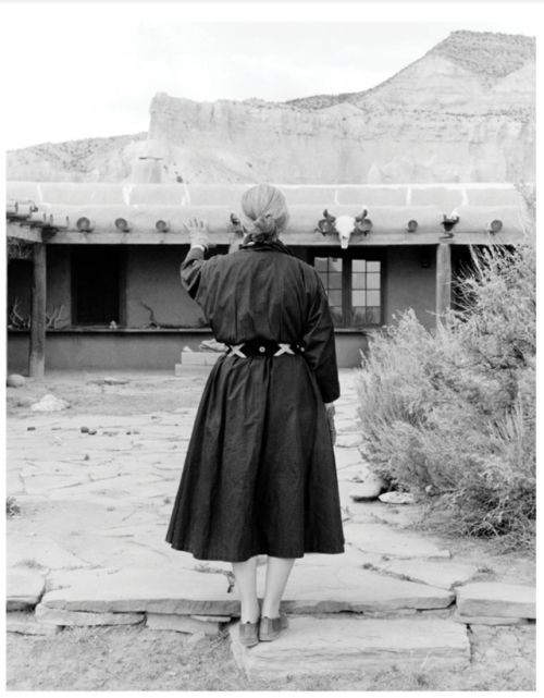 Tony Vaccaro Georgia O'Keeffe at the ranch, 1960.