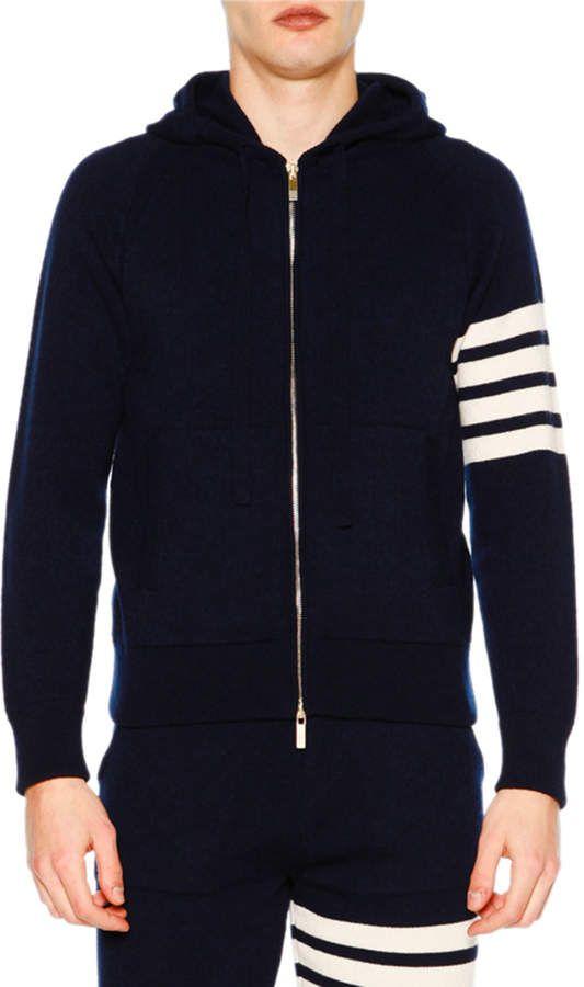 THOM BROWNE Men Women Sport zipper jacket coat Casual Sweatshirt