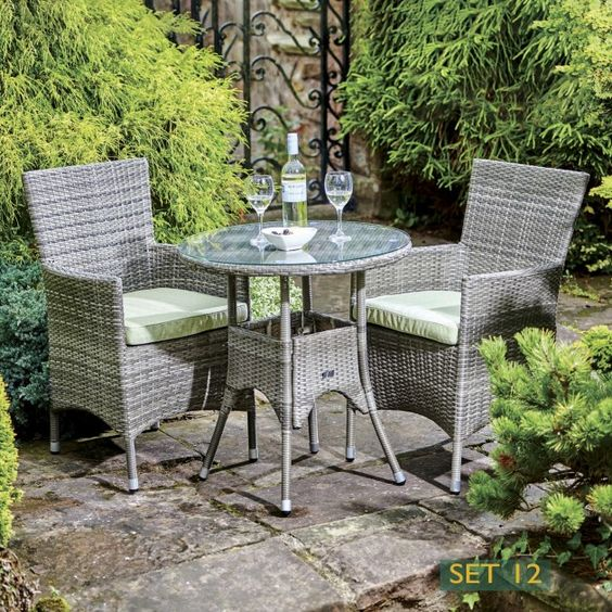 Bari Bistro Dining Table and 2 Chairs Garden Furniture Pinterest