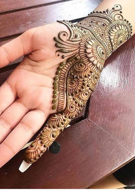modern indian arabic mehndi design