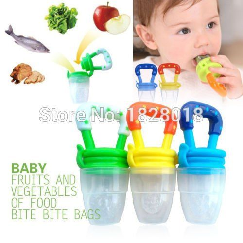 Portable Baby Food Fruit Nipple Feeder Pacifier Safety Soft Silicone Feeding Kit