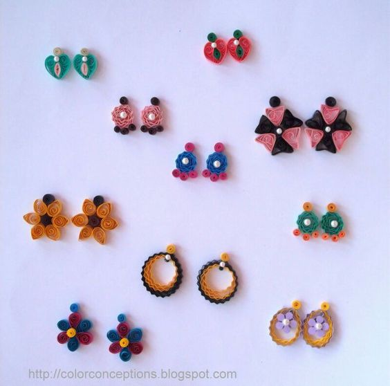 Quilling Earrings More Designs : Quilling Earrings Stud Quilling earrings quilling Pinterest Studs, Earring studs and ...
