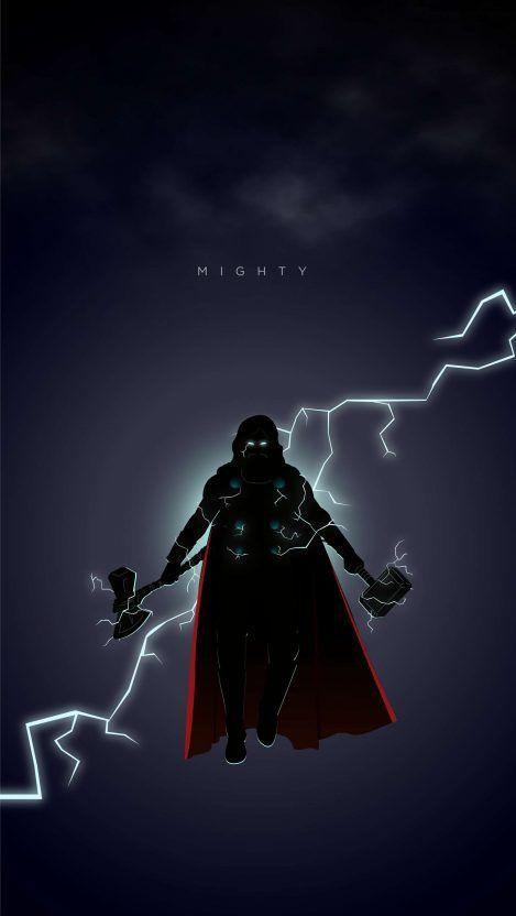 Thor From Endgame Iphone Wallpaper Marvel Kahramanlari Yenilmezler Marvel