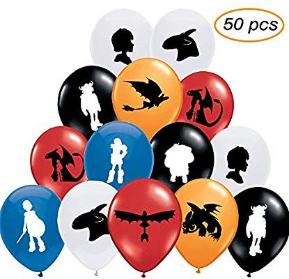 4PCS How to Train Your Dragon 3 Toothless Night Fury Balloons Party Supplies Decorations