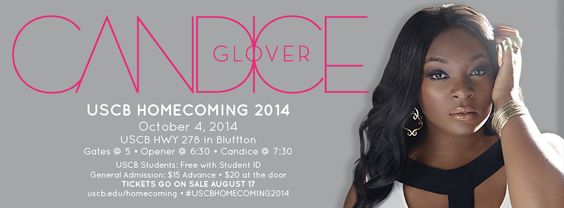 USCB Homecoming 2014 featuring Candice Glover on October 4 in Bluffton, SC. #SCLowcountry #CandiceGlover #AmericanIdol #USCB