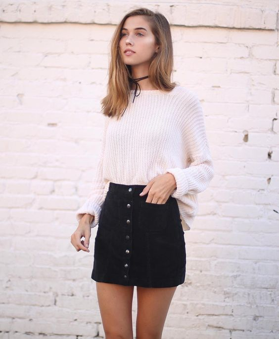 Cropped boatneck sweater, black mini, leggings or tights #fall . . . . #birkenstockboots