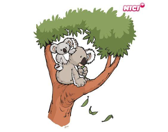 Nici Wandtattoo Wild Friends : Koalas and friends on