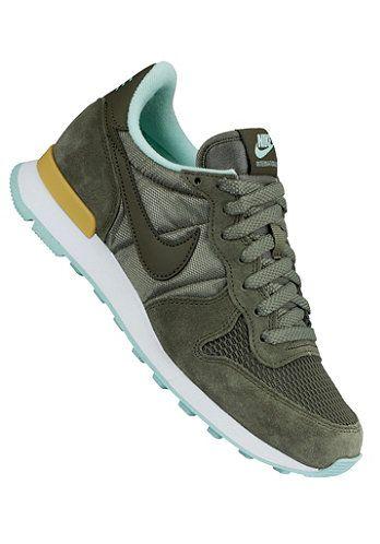 Mooie Internationalist (Groen) Sneakers van het merk Nike Sportswear voor Dames . Uitgevoerd in Groen gemaakt van Leer|textiel|leer.