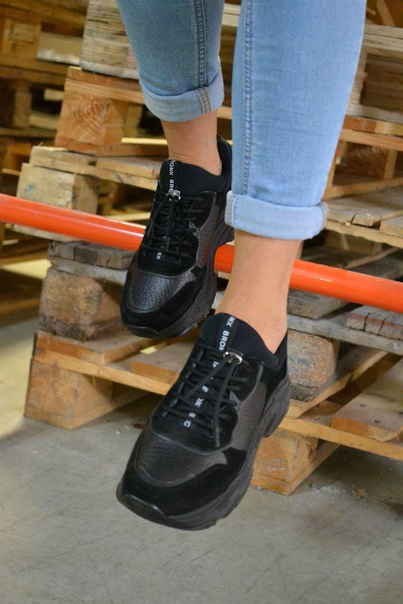 baskets plateforme noires femme