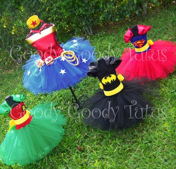 Superhero-tutus... BADASS!! Wish they had these when I was little! Between wanting to be Batman & 007 I still wanted to be pretty!