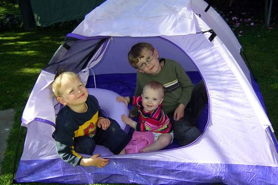 Sleeping In Tent In Backyard :  backyard or even inside your home Let them hang out and sleep in it