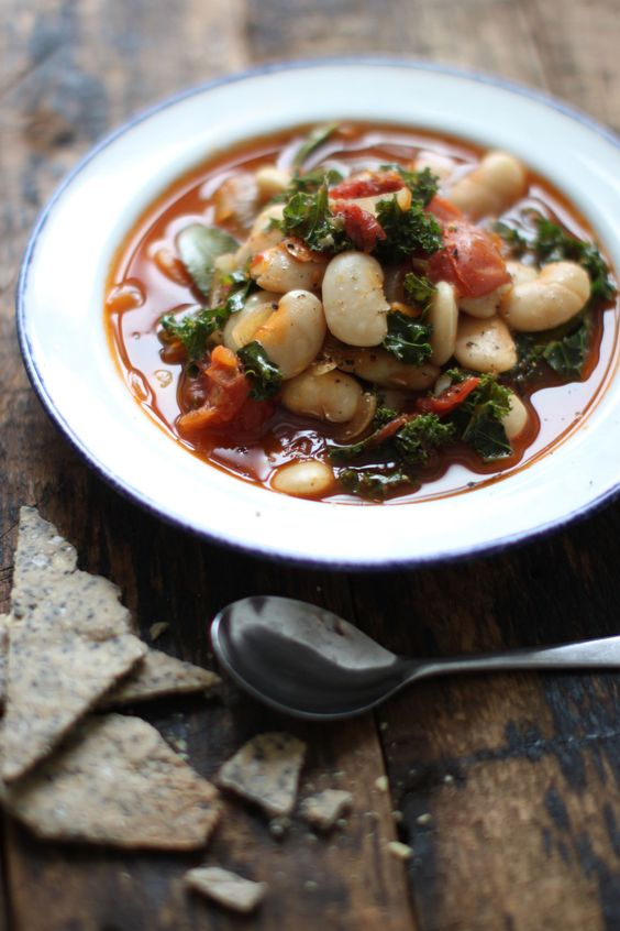 Garlicky Kale & White Bean Stew : absolutely delicious! Drizzled the olive oil right before serving. Def will make again many times!