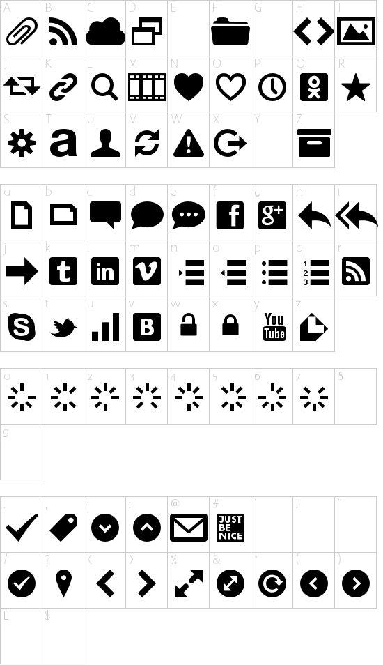 Web Symbols Font Gratis Font Fonter Pinterest Symbols Fonts