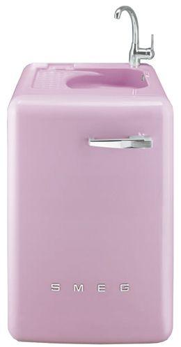A modern washer in a retro design retro style retro - Pink smeg washing machine ...