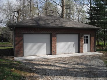 Very simple detached garage good for visualization for Brick garage plans