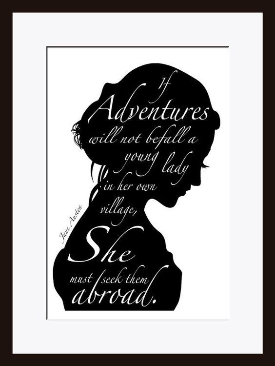 jane austen quote inspirational quote literary print