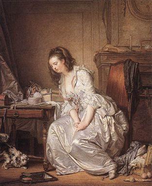 Greuze, Jean-Baptiste - Le miroir brisé - Wallace Collection, Londres