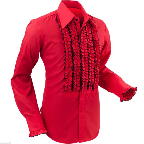 Pinterest the world s catalog of ideas for Frilly shirts for men
