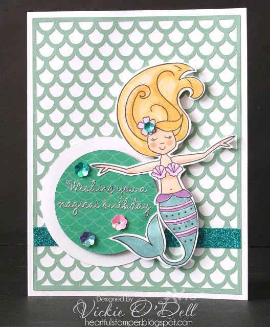 Heartful Stamper Magical Mermaid Birthday Card Girl Birthday Cards Happy Birthday Cards Handmade Funny Birthday Cards