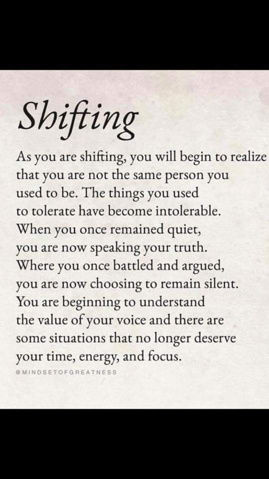 The shift is happening, some people shifted, some not yet. Most people are not aware.